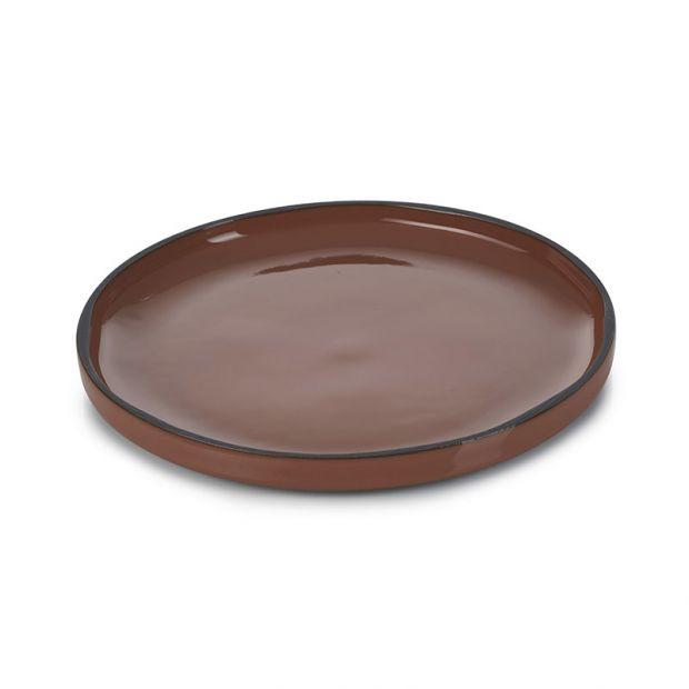 Caractère dinner plate Cinnamon