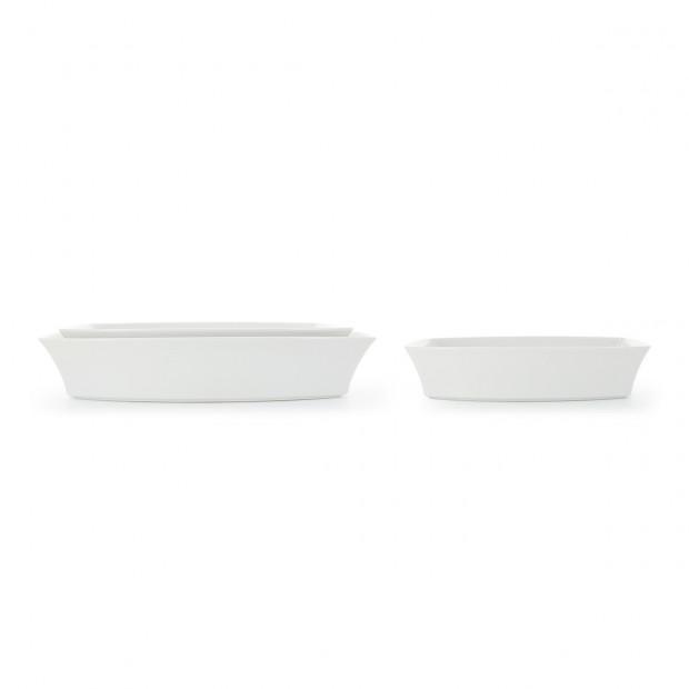 Rectangular white porcelain oven dish