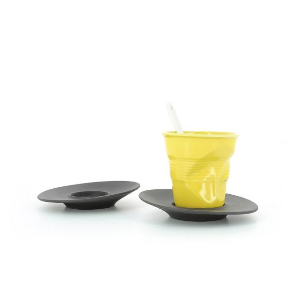 Espresso saucer in natural porcelain