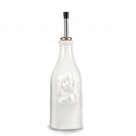 White porcelain vinegar bottle