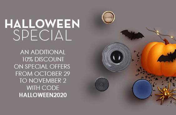 Halloween Spaciel ! An additional 10% discount on special offers FROM OCTOBER 29 to november 2 with code halloween2020